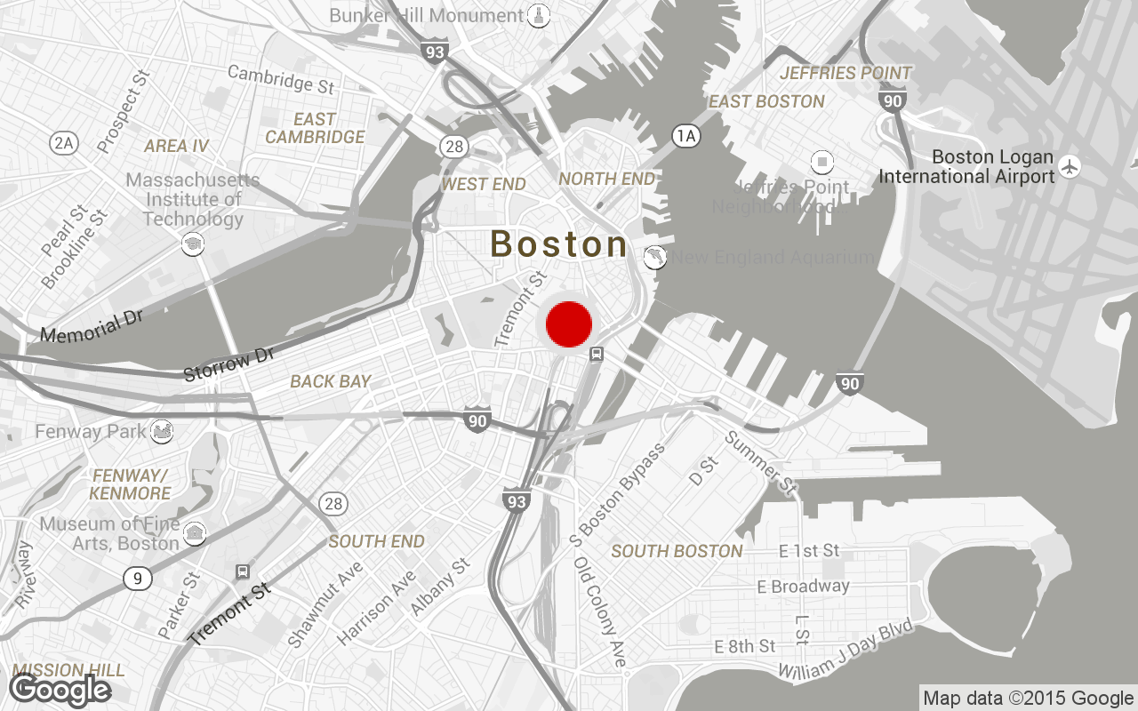 Boston Financial District gym map